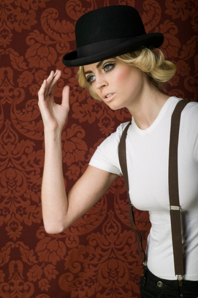 up and coming actress, kate braithwaite, actress, model, bowler hat